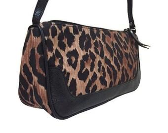Vintage Leopard Print Purse Evening Shoulder Bag Dolce   Gabbana 3e7339d490