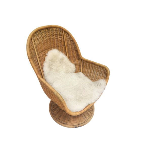 Prime Vintage Rattan Egg Chair Swivel Wicker Pod Boho Club Chair Pabps2019 Chair Design Images Pabps2019Com