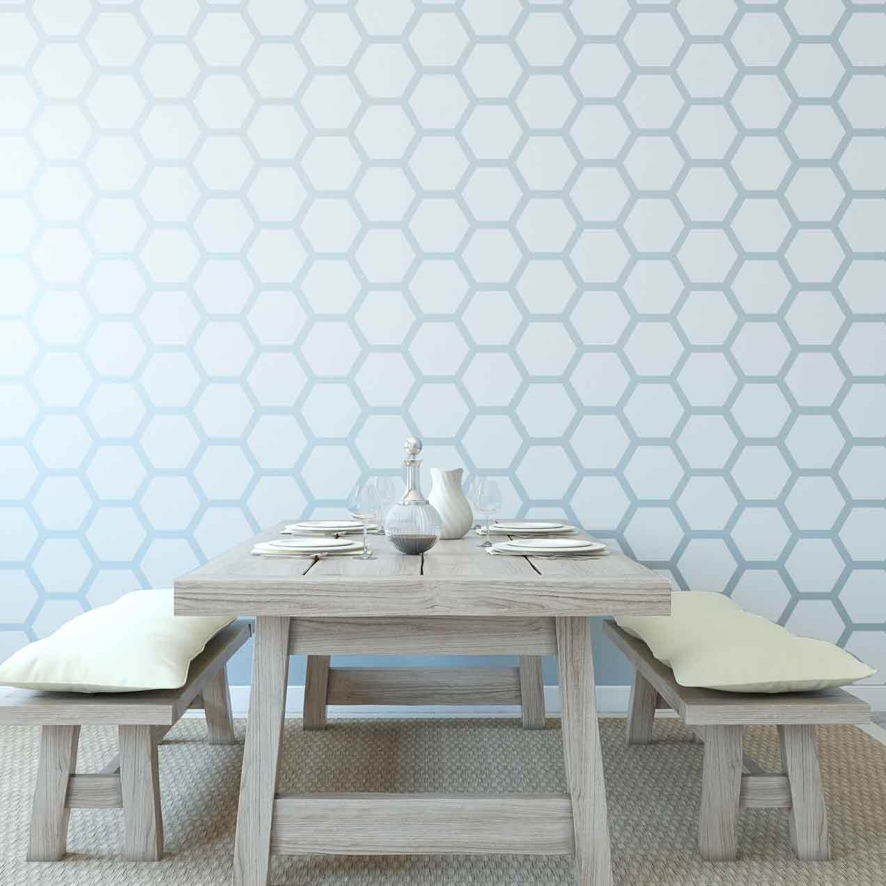 Honeycomb Wall Stencil Reusable Etsy