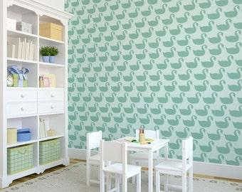 Swan Wall Stencil Reusable