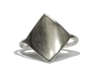 Shield Two. Bold shield ring.