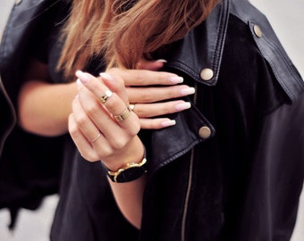 Kitten Cuff Gold Knuckle ring - cuff gold midi ring