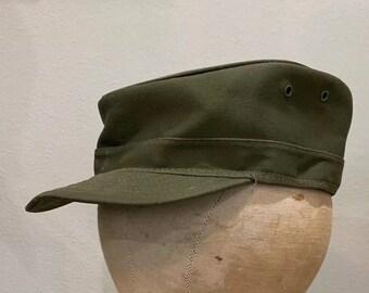 5432ac4cad9 MILITARY HAT 50s US Army Ridgeway Spring Up Coffee Can Cap Hat Korean War  Vietnam Vintage U.S. Army Field Gear Combat Patrol Trucker Chore