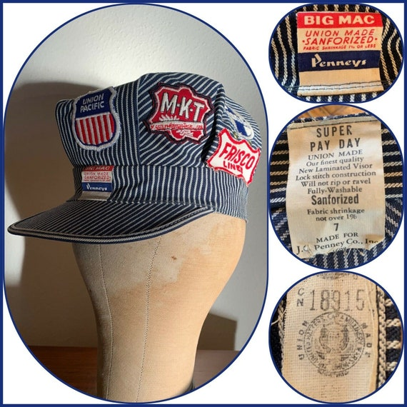 60s PENNEYS Big Mac PAY DAY Engineer Cap Railroad