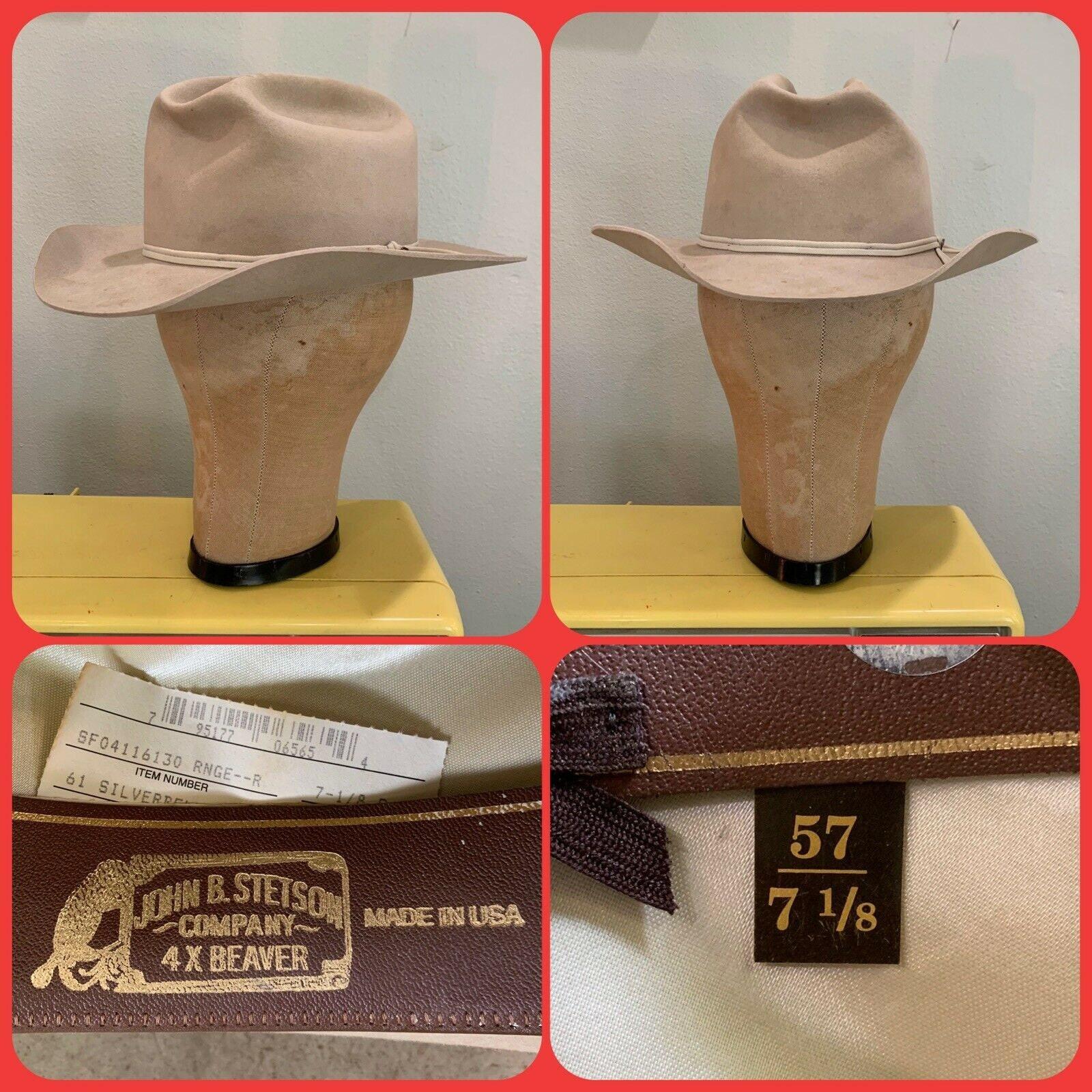 05548260 90s STETSON OPEN RANGE 4x Beaver Silverbelly Cowboy Hat Pin | Etsy