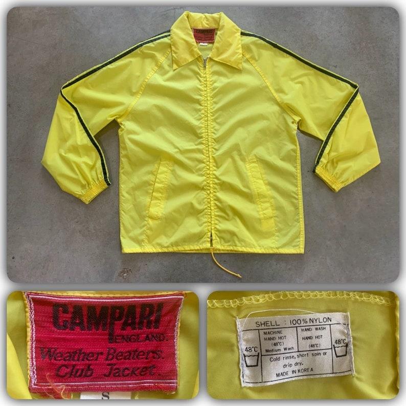 Campari Jacket 80s England Weather Beaters Car Club Jacket Etsy