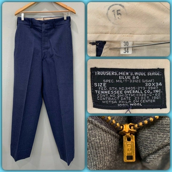 S Ranger Field Trousers Work Bags Butto Men/'s Cargo working trousers Vintage U