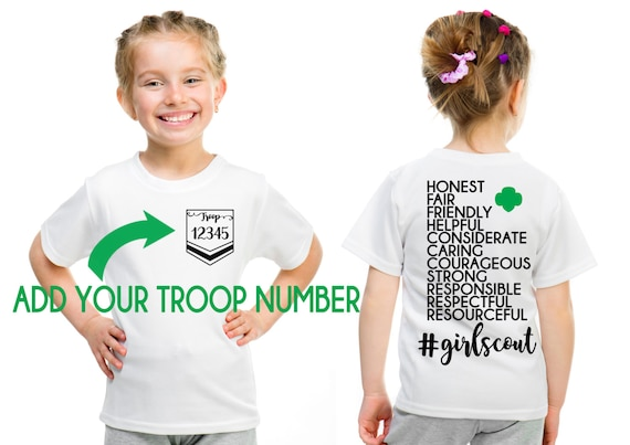 Girl Scout Custom Troop Girl Scout Law Design Front And