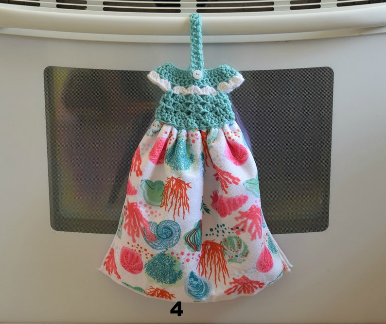 Hanging Towel  Kitchen Towels  Ocean Theme Towels   Crochet image 0