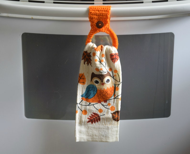 Hanging Towel Holder  Kitchen Towels   Fall Themed Towels image 0