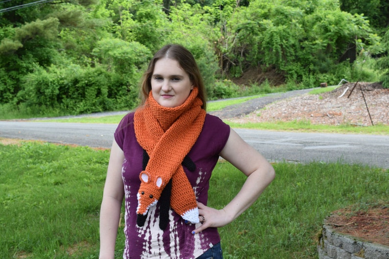 Fox Scarf  Crochet  Fox Stole  Fox Wrap image 0