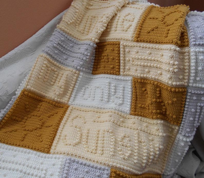 SUNSHINE pattern for crocheted blanket image 0