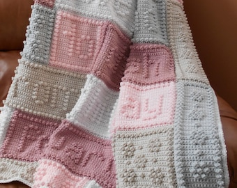 CHERISH pattern for crocheted blanket.