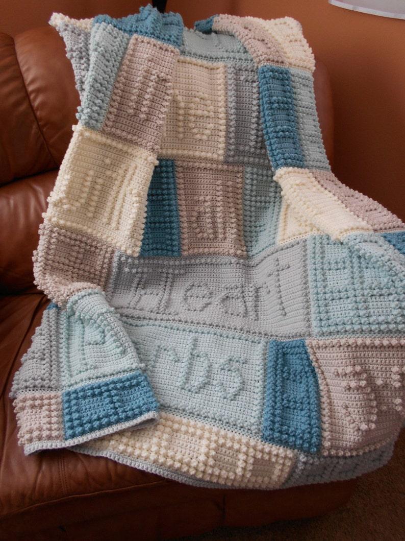 Trust Pattern For Crocheted Blanket Etsy
