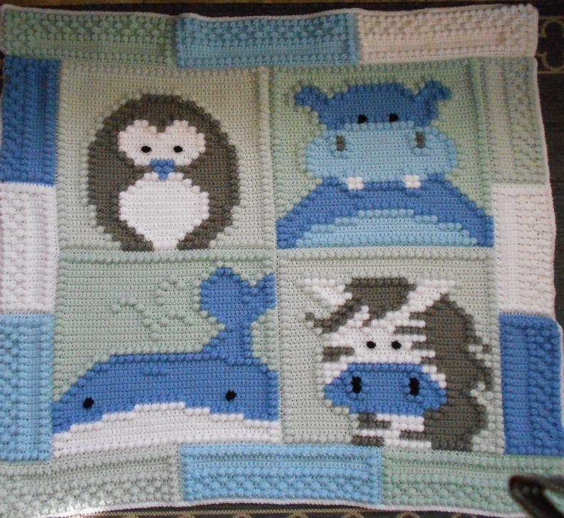 ZOO pattern for crocheted blanket