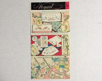 Vintage New Vogart Embroidery Transfer Patterns  FREE SHIP USA