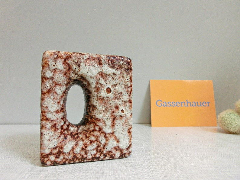 Fat lava chimney/hole vase by vest 60/70s image 0