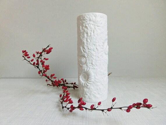 Tolle Weiße Vase Ak Kaiser Fossil Dekor Etsy
