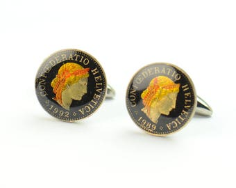 Farthing Bird Coin Cufflinks.United Kingdom.Great Britain Coin Collector Gifts,Dad Coin Gift,Upcycled,mens gift accessories jewelry