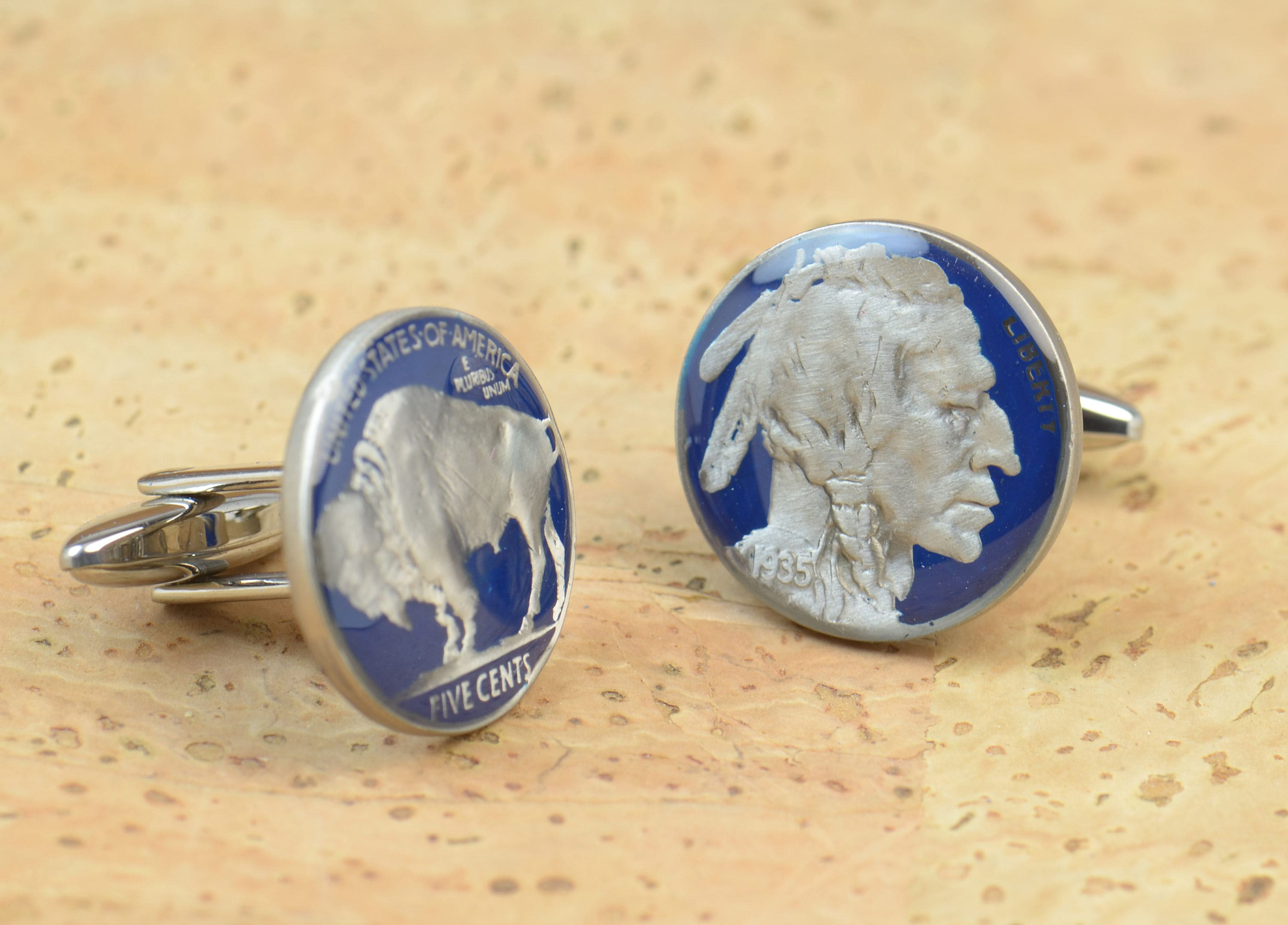 US Cufflinks Custom Personalized.Old Indian coin US Coin Collector Gifts,Dad Coin Gift,Upcycled,mens gift accessories jewelry