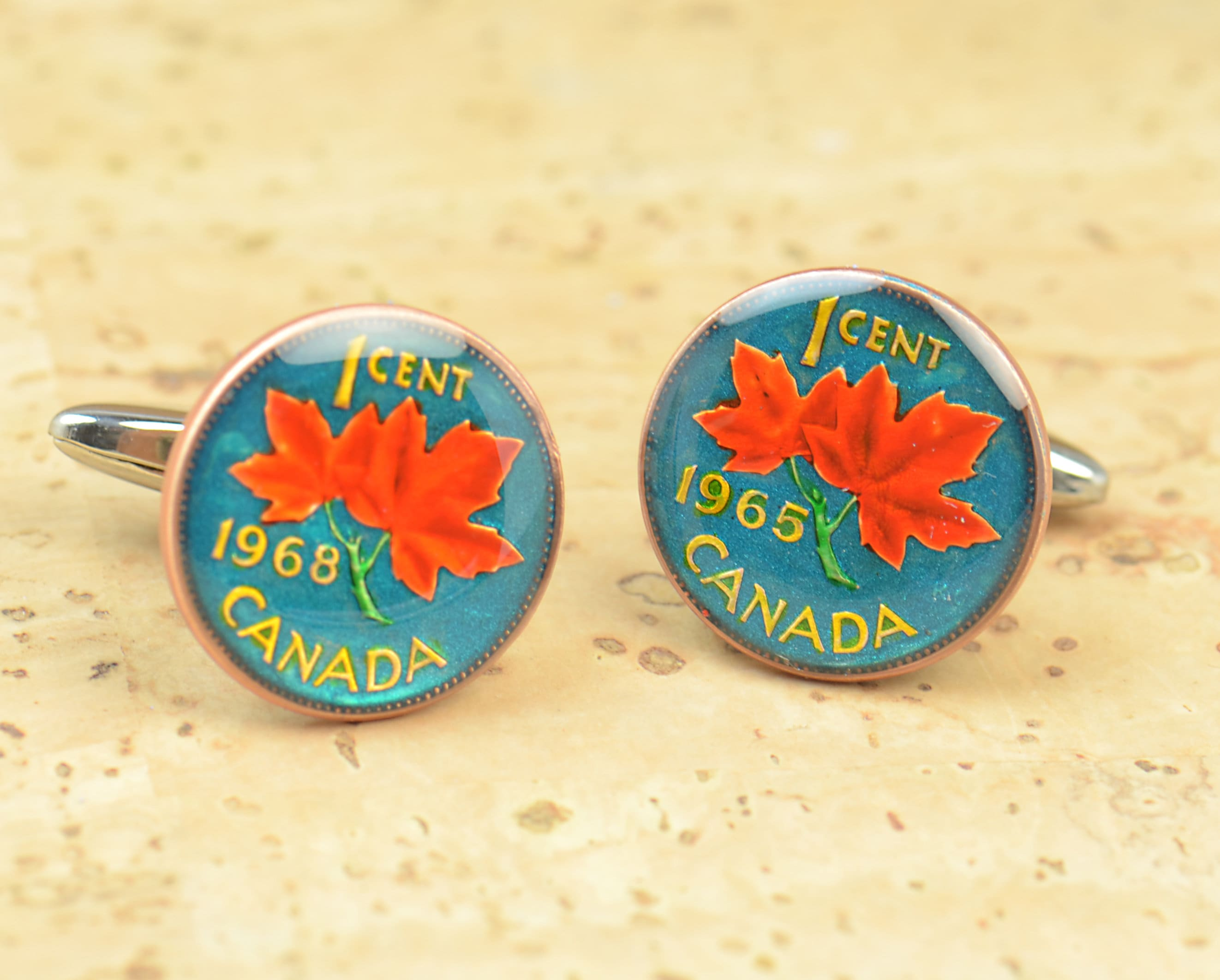 Canada  Coin Cufflinks Coin Collector Gifts,Dad Coin Gift,Upcycled,mens gift accessories jewelry