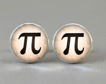 Pi Number cufflinks maths physics cuff links gift idea accessories men women Engineer