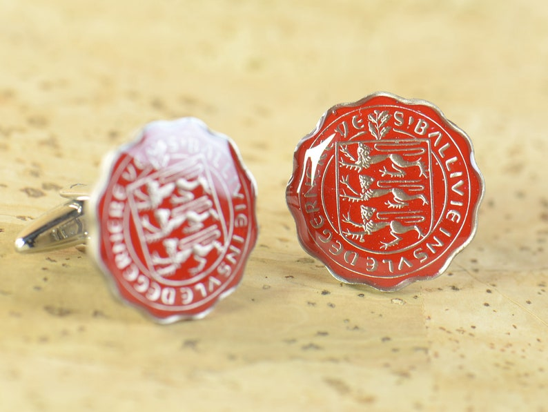 Cufflinks Coin from Guernsey Coin Collector Gifts,Dad Coin Gift,Upcycled,mens gift accessories jewelry