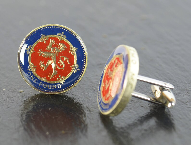 Enamel coin pound  Cufflinks.United Kingdom.Great Britain Coin Collector Gifts,Dad Coin Gift,Upcycled,mens gift accessories jewelry