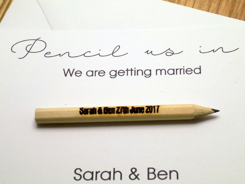 Pencil us in Save the Date A6 card and envelope