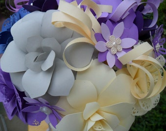 Paper Flower Wedding Bridal Bouquet Made To Suit You
