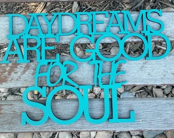 Inspirational Laser Cut Wood Wall Hanging. gift,painted any color