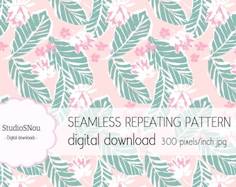Painted tropical vibes seamless pattern