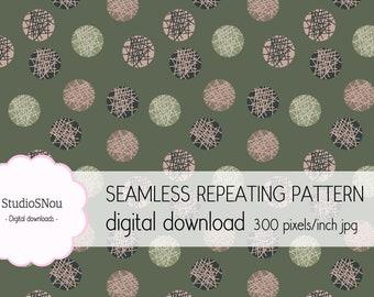 Circles seamless repeat pattern digital download