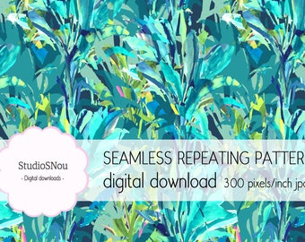 Plant green tropical seamless pattern