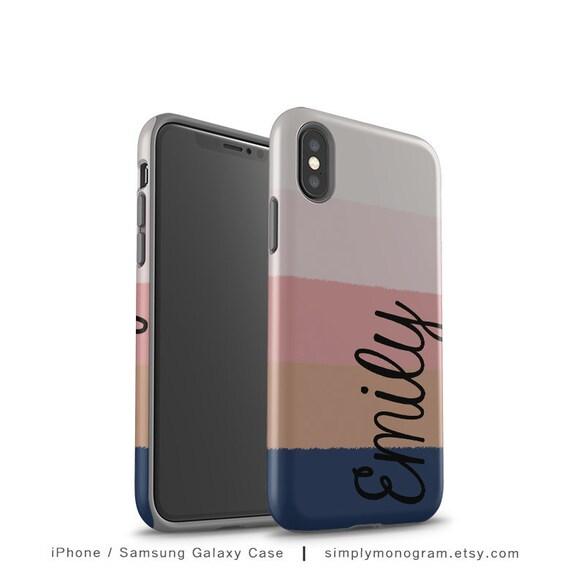 official photos b052b d7cf4 iPhone 8 Plus Case, Monogram Phone Case, iPhone X Case, Case, iPhone 8,  iPhone 7 Plus, iPhone 7, Personalized Case, Stripes, iPhone 6 Case