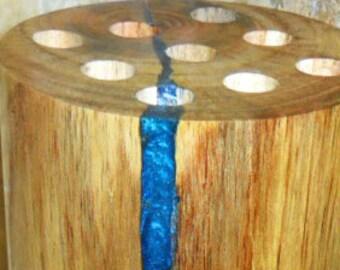 Grand bol en bois bol en bois incrusté incrustation de etsy