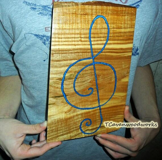 Treble clef wall art gclef artwork resin inlay resinart