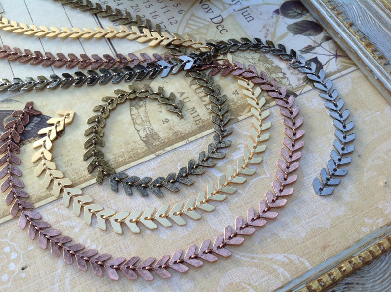 3.2feet Real Gold Plated Square Chain,Gold Disc Chain,Loose,Flat Chevron Chain,Herring bone Fish bone Chain,Collar Necklace diy,Finding