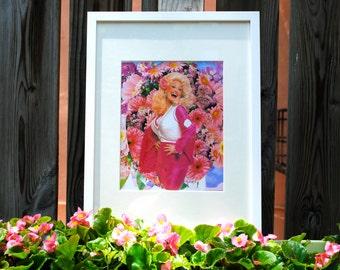 Dolly Parton Art Mixed Media Print 10x10 Collage