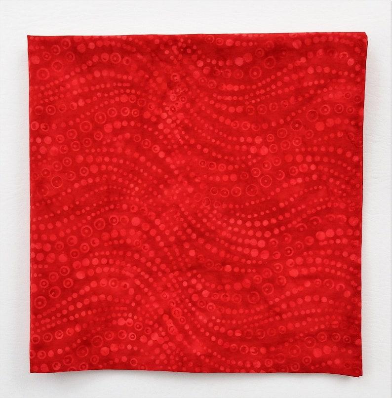 Red Moons Bandana, Swirling Moons, 22