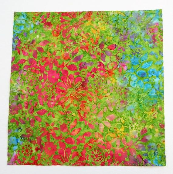 Mens Mustard /& Lilac Batik Design Cotton Handkerchief Pocket Square Hankie Hanky