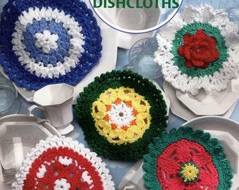 Crochet A Dozen Round Dishcloths Designs for Cotton Yarn by Jennine Korejko American School of Needlework 1268