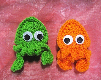 PATTERN Crocheted Game-Inspired Squid and Ninja Finger Puppets
