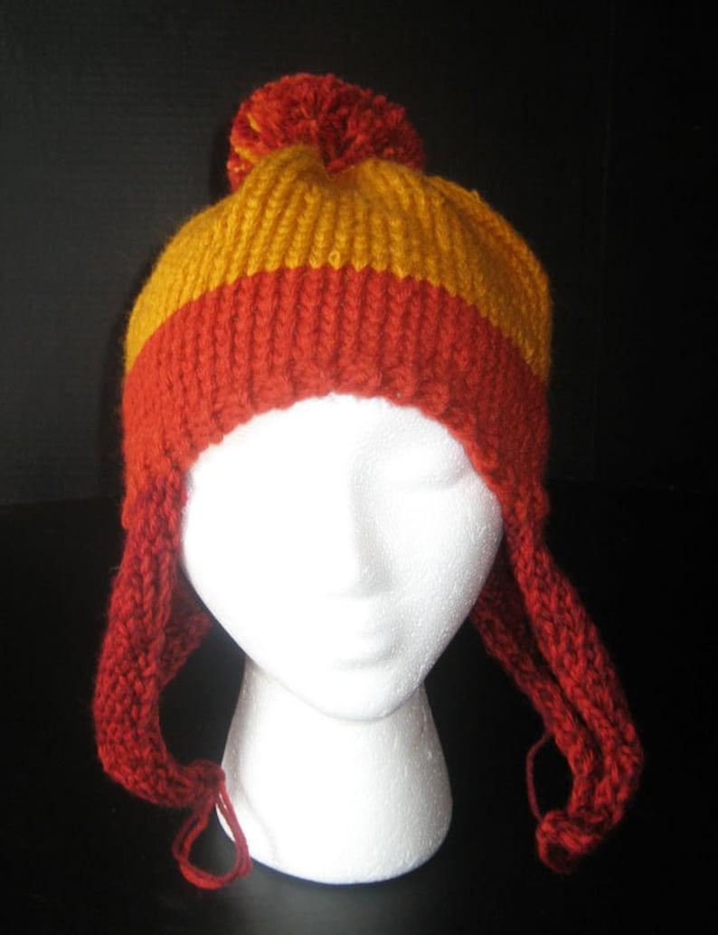 7ef4ecadf91 Not-Jayne Hat Knit Earflap Hat with Pom-Pom