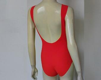 0384eb64e0 One Piece Swimsuit Open Back Swimwear Red Bathing Suit Plus Size Beachwear  Sexy Sport Swimsuit XXS XS S M L XL 2X 3X 4X 5X