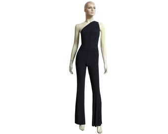 6a3b872a7a5 Infinity Jumpsuit Black Bridesmaid Overall Prom Convertible Onesie Plus Size  Flare Pants Bell Bottoms Jumpsuit Evening Outfit