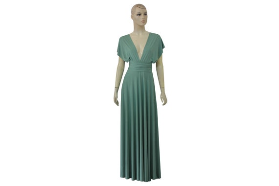Infinity Dress Sage Green Bridesmaids Gown Plus Size Wrap Dress Convertible  Prom Gown Maternity Formal Dress XXS XS S M L XL 1X 2X 3X 4X 5X