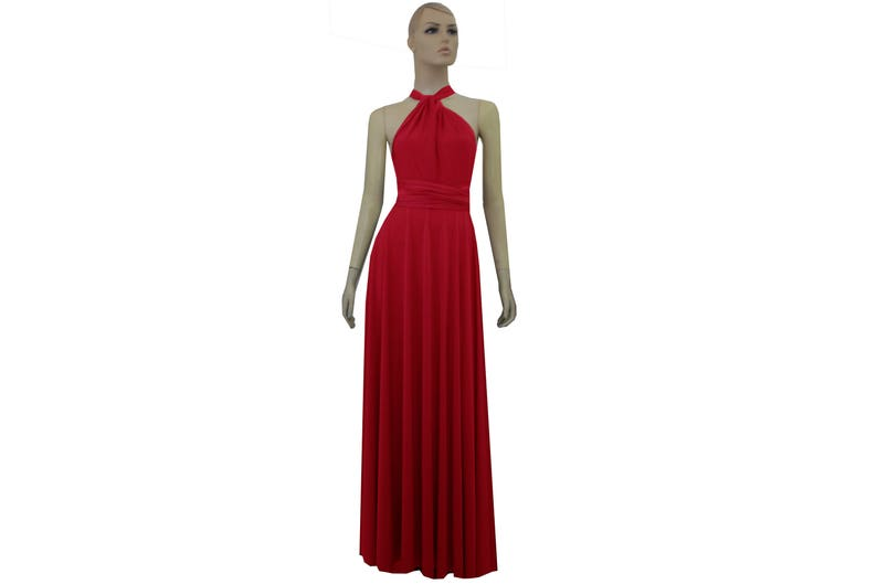 a07e7352051 Bridesmaid Dress Convertible Infinity Dress Red Prom Gown