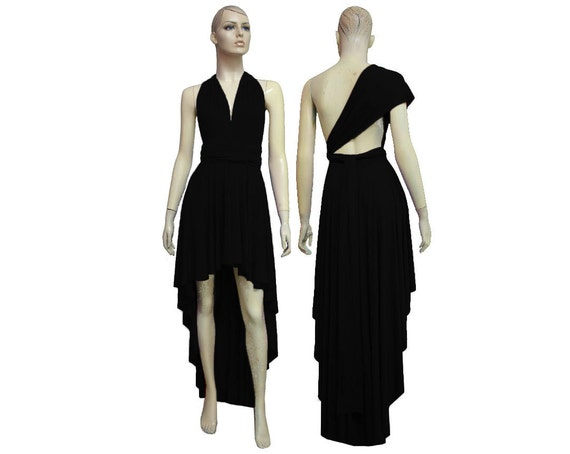 Convertible Dress Black Formal Gown High Low Bridesmaid Dress Infinity Plus  Size Dress Multiway Prom Dress XS S M L XL 1X 2X 3X 4X 5X