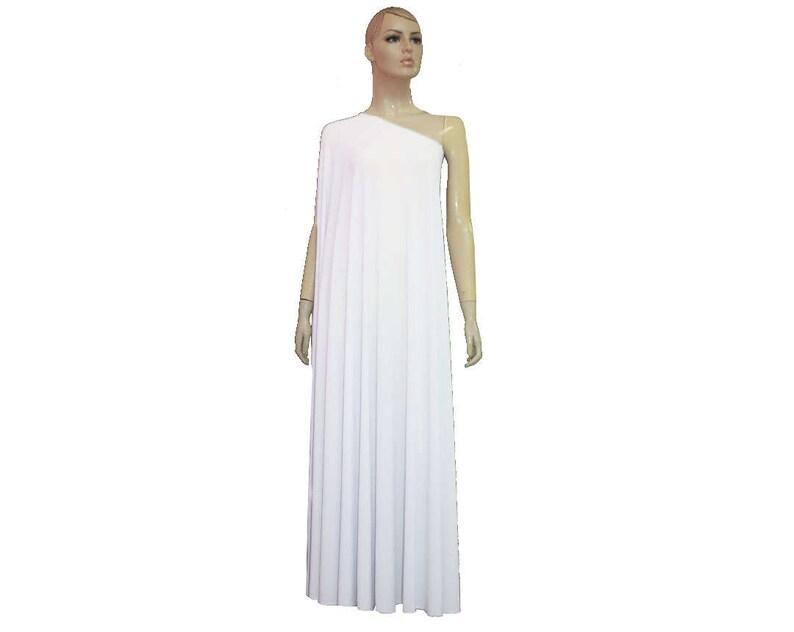 23cb7efb6e13f Plus Size Wedding Dress White Formal Gown One Shoulder Prom | Etsy